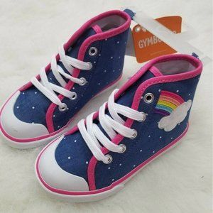 GYMBOREE Toddler Girl Hi-Top Sneaker Denim/Rainbow